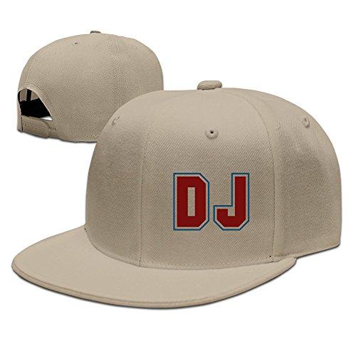 7caf236f03c Men s Dj Music Rap Flat Brim Adjustable Snapback Baseball Hat Natural