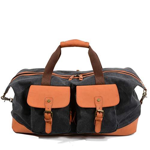 WMA-Öl Wachs Leinwand Retro Reisetasche Aus Leder Schulterdiagonale Handtasche Hohe Kapazität Gepäcktasche -