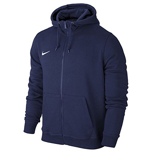 Nike Herren Training Trikot (Nike Herren Sweatshirt Team Club Full Zip, Obsidian/Football White, S, 658497-451)