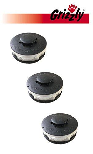 3 Stück Ersatz Spule Doppelfaden Rasentrimmer Spule Ersatzfadenspulen für Elektro Rasentrimmer passend für ALDI Top Craft, King Craft, Gardenline GLR GLT, Einhell RTV, Performance Power