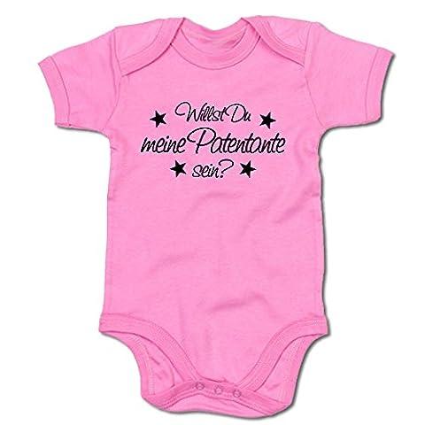 Willst Du meine Patentante sein? Baby-Body (250.0185) (3-6 Monate, pink)
