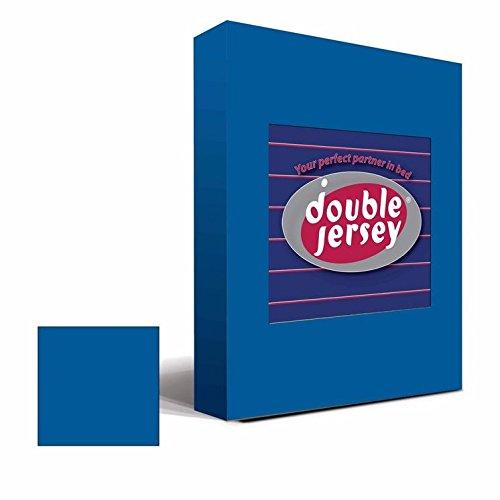 Double Jersey - Spannbettlaken 100% Baumwolle Jersey-Stretch bettlaken, Ultra Weich und Bügelfrei mit bis zu 30cm Stehghöhe, 160x200x30 Cobalt - 2