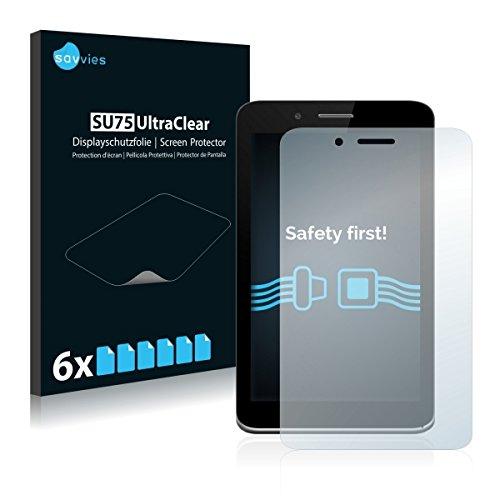 6x Savvies SU75 UltraClear Bildschirmschutz Schutzfolie für Allview Viva H7 Xtreme (ultraklar, mühelosanzubringen)