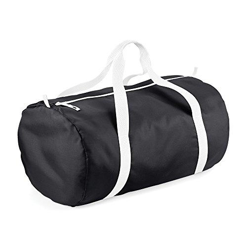 BagBase Reisetasche, wasserabweisend, 32 Liter Schwarz/Weiß