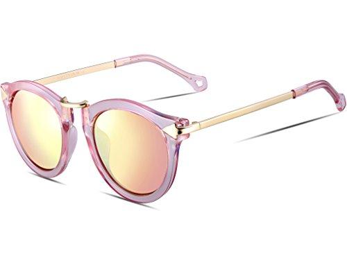 ATTCL Damen Vintage Mode Polarisiert Sonnenbrille