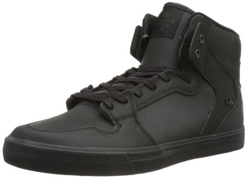 Supra VAIDER, Unisex-Erwachsene Hohe Sneakers Schwarz (BLACK / BLACK   RCS)