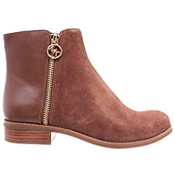 Michael Kors Women's Shoes Ankle Boots Jayce Flat Bootie Suede40F8JAFE5S Caramel - 41NhonFk 2ByL - Michael Kors Women's Shoes Ankle Boots Jayce Flat Bootie Suede40F8JAFE5S Caramel
