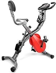 Ultrasport 331100000337 Unisex Adult F-bike 700bs Exercise Bike - Dark Grey Red, 87 x 46 x 117 cm