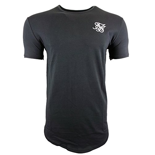 ca33017534b6b Sik Silk Hombre Hem curva Logo Gimnasio de la camiseta