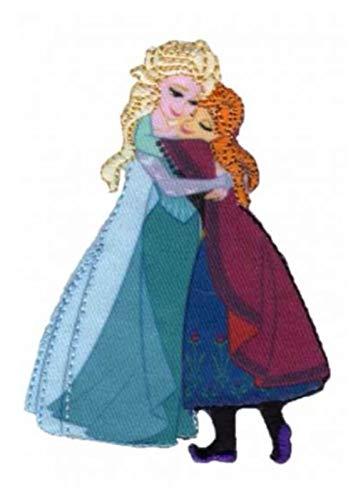 Bügelbild / Aufnäher - Disney Frozen - die Eiskönigin - Prinzessin - ELSA & ANNA Schwestern