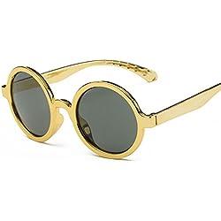 Aierwish Männliches und weibliches Kinder Neue schön Runde UV-Schutz Sonnenbrille (2)