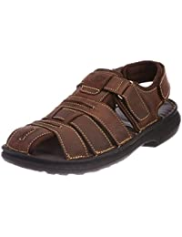 Hush Puppies Men's Rockford Brown Leather Athletic & Outdoor Sandals