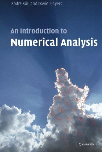 Analysis pdf numerical book