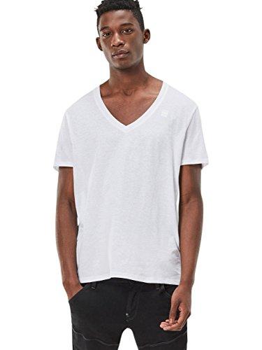 G-Star Herren T-Shirt Basic - Regular Fit 4er Pack White Solid (2020)