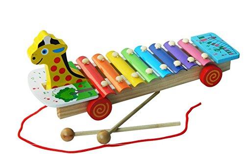 IU Desert Rose Hausbedarf Kleinkind-hölzernes Toy Giraffe Shape Xylophone Educational Percussion Instrument