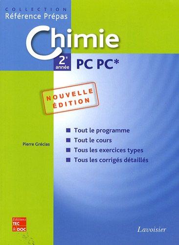 Chimie 2e année PC PC*