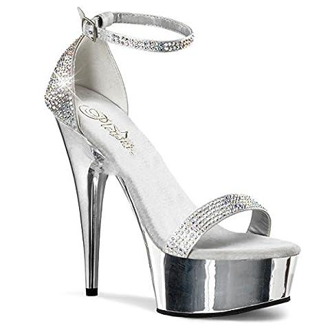 Pleaser Delight-617RS - sexy platform high heels sandals sizes 2-11, Size:EU-37 / US-7 / UK-4