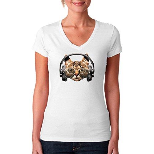 Im-Shirt - Catphones Fun Shirt cooles Fun Girlie Shirt - verschiedene Farben Weiß
