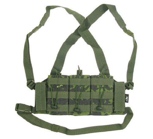 BE-X Chestrig für verdeckte Einsätze -M4 Edition- für 3x M4 und 2x Kurzwaffen Magazin - dänisch tarn