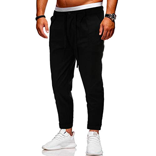 Herren Jogginghose Männer Outdoor Sporthose Trainingshose Beiläufige Cargo Capri Hosen Fitness Gym Training Slim Fit Sweatpants -