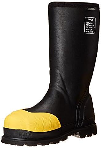 Bogs Men's Forge STMG Lite Waterproof Insulated Work Boot, Black, 10 M US