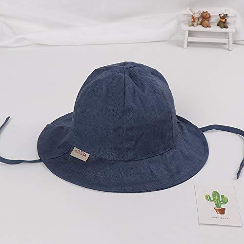 Kostüm Ska Mädchen - mlpnko Kinderhut New Baby Basin Hut Wild Kinder Sonnenhut Jungen und Mädchen Fischerhut Flut Abschnitt Marineblau 49cm Geeignet für 1-3 Jahre alt