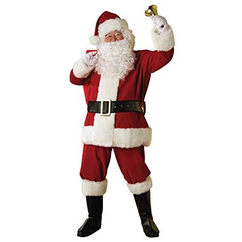 Amakando Premium Nikolaus-Kostüm / Rot-Weiß in Größe STD (48 - 52) / Qualitativ Hochwertiges Santa Claus Outfit / EIN Highlight zu Nikolaus & Weihnachtsmarkt