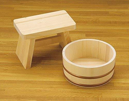 Yamako japanischen Stil, Bad Set Stuhl und furo-oke (Waschbecken) 85946