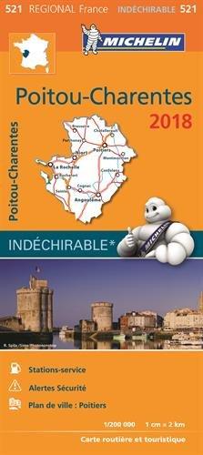 Carte Poitou-Charentes Michelin 2018