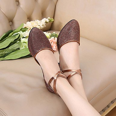 Scarpe da ballo-Non personalizzabile-Da donna-Balli latino-americani-A stiletto-Brillantini Paillette-Marrone Argento Dorato Gold