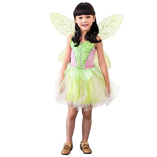 Imagen de m&a disfraz de campanilla para niña verde 128/134 talla del fabricante l