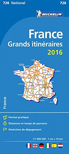 France. Grands itinraires 1:1.000.000