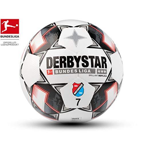 Trainingsball Derbystar Fußball Bundesliga Brillant Replica 2018/2019 mit eigenem Vereinslogo und Nummer Bedrucken Lassen