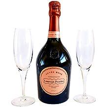 Laurent-Perrier Champagne Rose 750ml Con 2 copas de Champagne - Un regalo de lujo