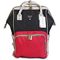 Motherly Stylish Babies Diaper Bags for Mothers - Premium Version (Red and Black Ash)
