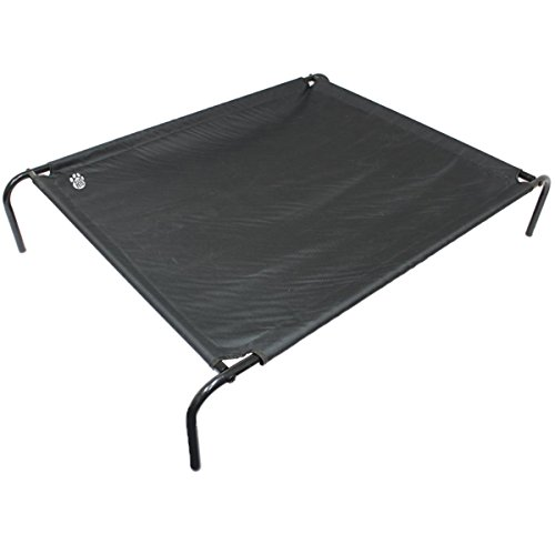 Large Raised Dog Bed & FrameBlack Powder Coated Steel Frame - Anti Mildew & Mould Coated Canvas Fabric Stretched Over Frame