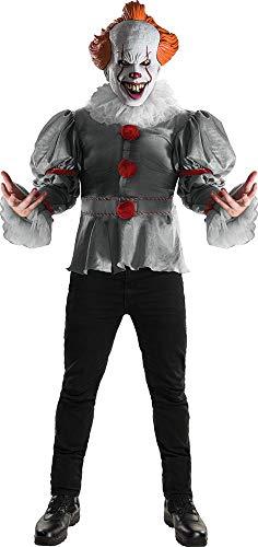 Stephen King - Disfraz de payaso Pennywise Deluxe para adulto, Talla única (Rubie's 820859)