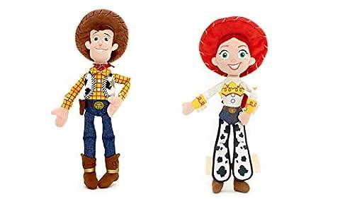 Ensemble de 2 pièces : Disney-Toy Story-Woody : Mini - 12 cm en peluche Mini peluche et Jessie 11 cm