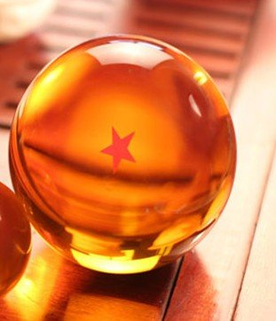 Bowee Anime 1:1 DBZ DragonBall Z Crystal Ball Durchmesser ca.7cm Dazzling 1-Star-Kristallkugel (Dragon Ball Z Bälle)