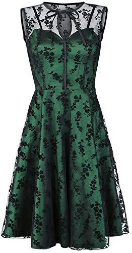 Voodoo Vixen Emerald Mittellanges Kleid grün L