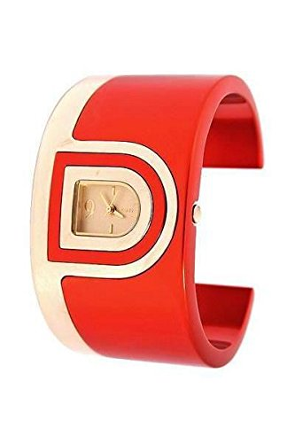 DKNY GOLD AND RED TONE CUFF LADIES WATCH - NY4515