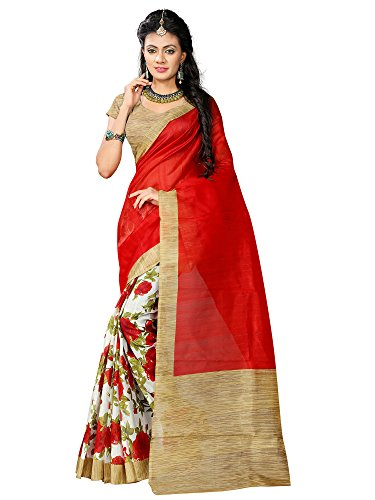 Mrinalika Fashion Women's Art Silk Saree With Blouse Piece (SRJ014_Beige)