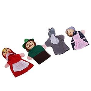 4 Marionnettes à Doigts Le Petit Chaperon Rouge