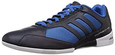 adidas Originals Men's Porsche Turbo 1.1 Dark Blue and Blue Leather Sneakers - 12 UK