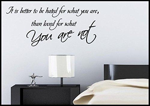 Wall Smart Designs Love Loved Leben Spruch Wandsticker Schlafzimmer Zimmer Transfer Wandgemälde Aufkleber Kunst Tätowierung