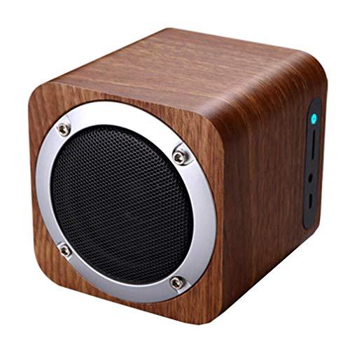 Bluetooth-Lautsprecher, Holzdraht-Bluetooth-Lautsprecher, Small Stereo, Portable Card Subwoofer, Practical Bluetooth Speaker, Wood Color, Nanmu Color,nanmucolor (Stereo-lautsprecher Bookshelf)
