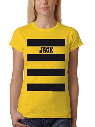 Eine Kostüm Original Für Gruppe - clothinx Damen T-Shirt Fit Lucky Luke Karneval 2019 Die Daltons Gruppen-Kostüm Gelb/Jack Größe M