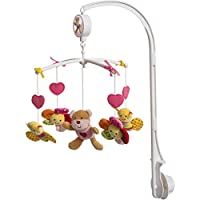 'Bieco 37204236 Music Mobile Bear with' La Le Lu, Pink, ca. 31 x 31 x 62 cm preiswert