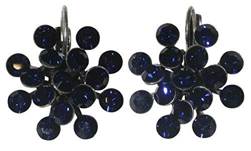 Magic Fireball Ohrhänger mit Klappverschluss in dark indigo, dunkelblau