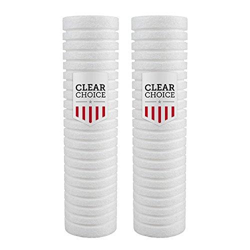 Clear Choice Sediment-Filterkartusche, 5 Mikron, 25,4 x 5,7 cm, 13 K Gal. Ersatz für Everpure DEV9109-08, Aquapure AP110, 2-Pk -